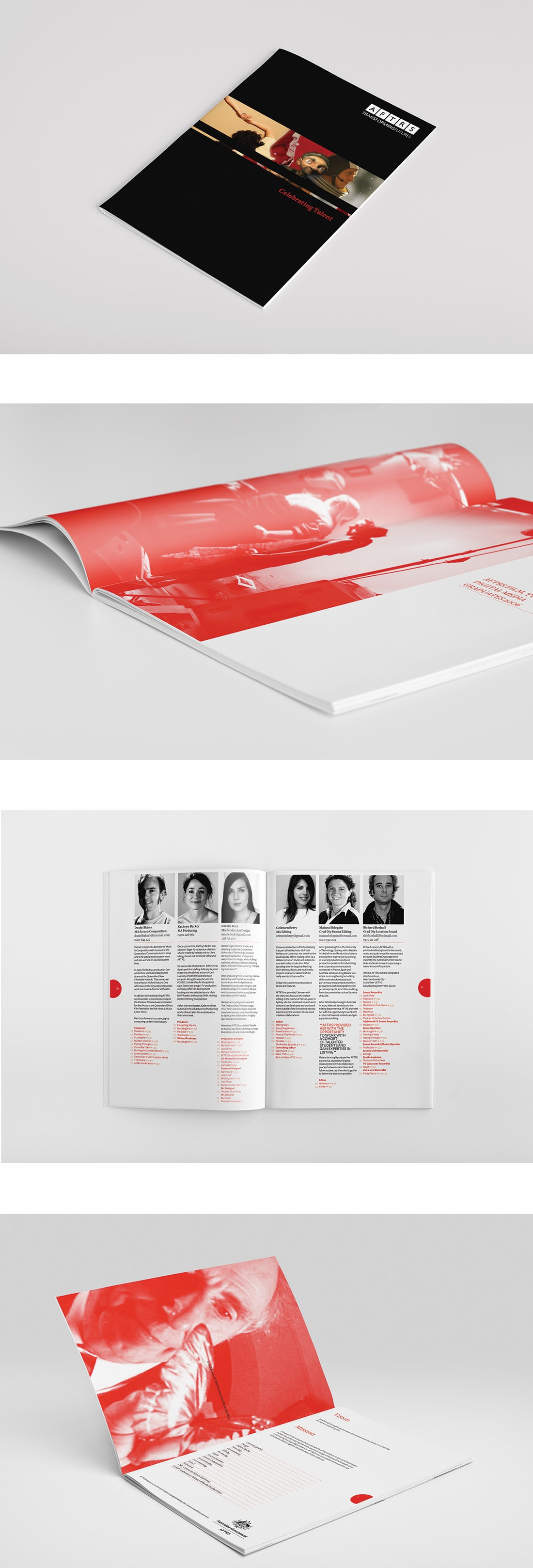 AFTRS' celebrating talent graduation book