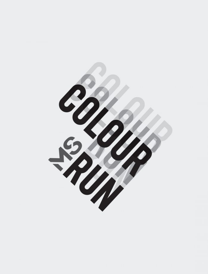 MS Colour run brand identity for 2013