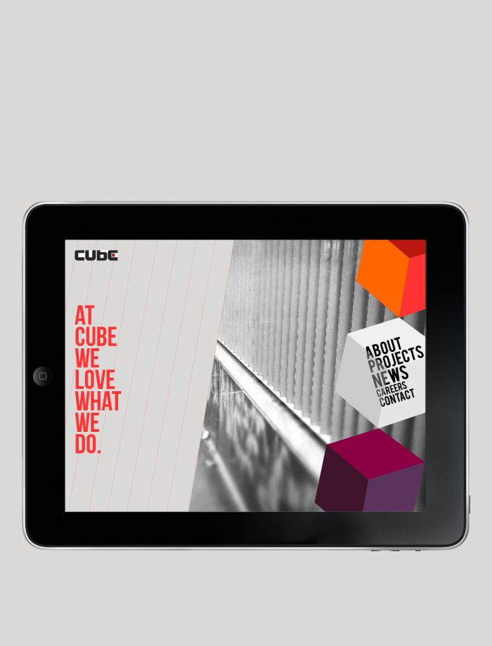 Homepage of Cube's responsive site