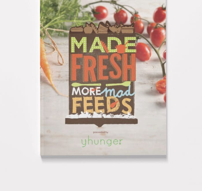 Yhunger cookbook cover for Made Fresh, More Mad Feeds