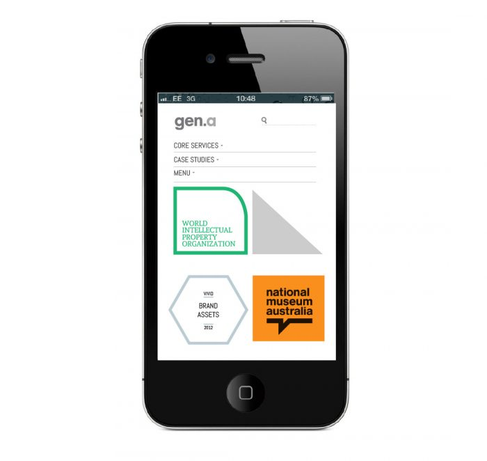 Mobile application of the Generation a. website.