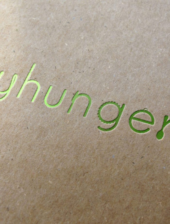Letterpress logo of the Yhunger brand mark